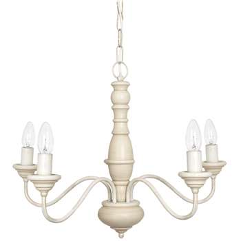 Milnsbridge Cream 5 Light Chandelier (45 x 54cm)