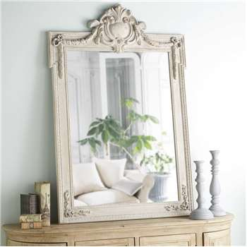 MILORD distressed-effect mirror with mouldings