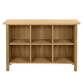 Milton Oak Low Bookcase (80 x 120cm)