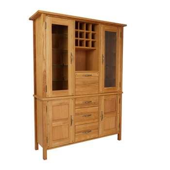 Milton Oak Wide Drinks Cabinet (183 x 141cm)