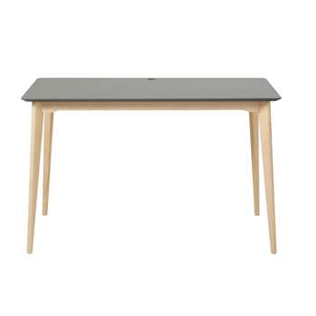 MIMO PRO - Professional Anthracite Grey Solid Beech Desk (H75 x W120 x D60cm)