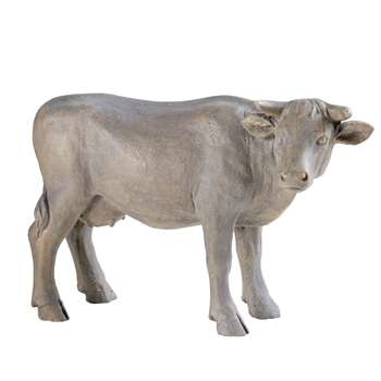 MINA Grey Resin Cow Garden Accessory (51.5 x 33.5cm)