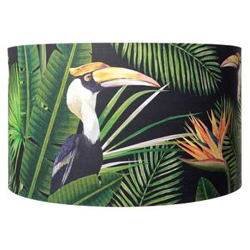 MINDTHEGAP - Birds of Paradise Drum Lamp Shade - Large (H30 x W55 x D55cm)