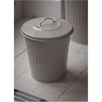Mini Bin with Nickel Handle in Clay - Steel (33 x 25cm)