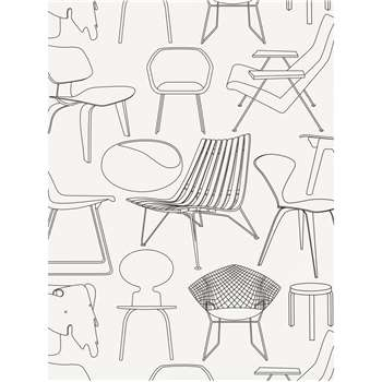 Mini Moderns Sitting Comfortably? Wallpaper, Snow