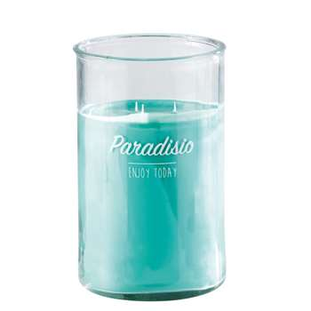 MINT Green 3-Wick Candle in Glass Holder (H29 x W18 x D18cm)