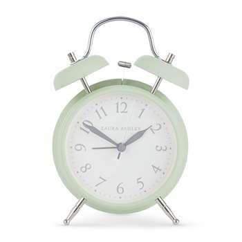 Mint Medium Bell Alarm Clock (17 x 12cm)