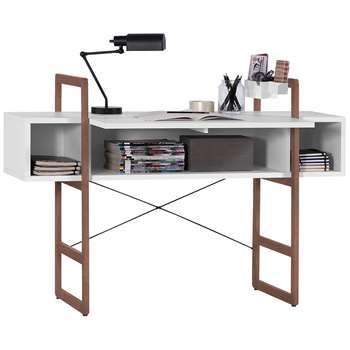 Mio Bureau Desk in White (Width 138cm)