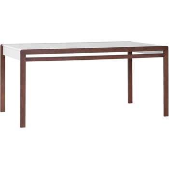 Mio Dining Table in White & Dark Beech Effect 77 x 164cm