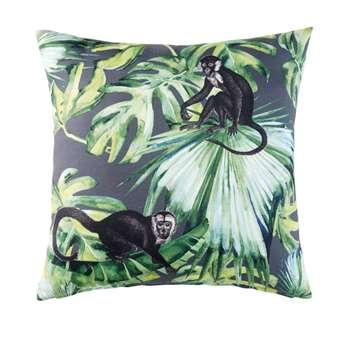 MIRI Green Outdoor Cushion with Jungle Print (H45 x W45 x D10cm)