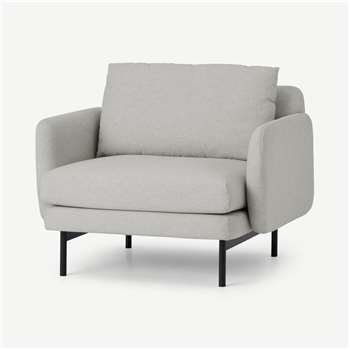 Miro Armchair, Venetian Grey (H69 x W78 x D88cm)