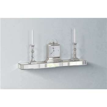 Mirrored Floating Wall Shelf (6 x 90cm)