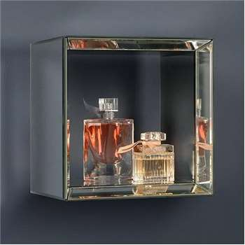 Mirrored Square Wall Shelf - Uno (27 x 27cm)