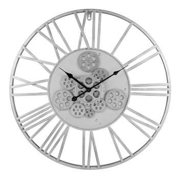 MISSOURI - Anthracite Grey Metal Cog Clock (Diameter 57cm)