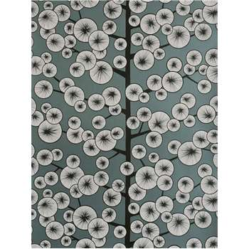 MissPrint Cotton Tree Wallpaper - Grey, MISP1037