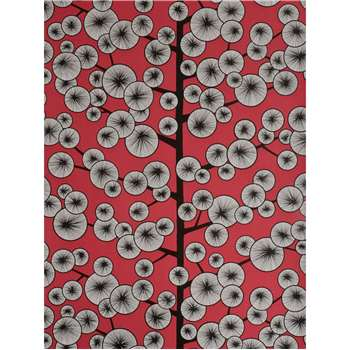 MissPrint Cotton Tree Wallpaper - Red, MISP1035