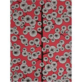MissPrint Cotton Tree Wallpaper - Red, MISP1035