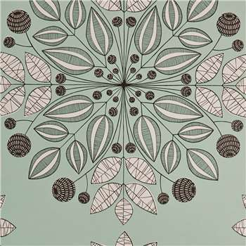MissPrint Kaleidoscope Wallpaper, Mint, Misp1094