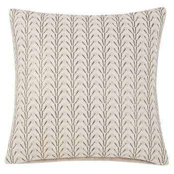 MISTINGUETT Cotton Cushion Cover with Gold Print (H40 x W40cm)