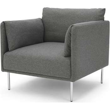 Mitski Accent Chair, Coventry Grey (H76 x W77 x D81cm)
