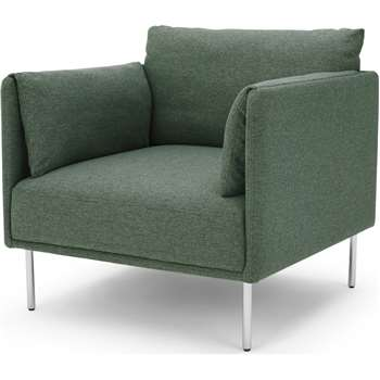 Mitski Accent Chair, Darby Green (H76 x W77 x D81cm)