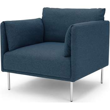 Mitski Accent Chair, Orleans Blue (H76 x W77 x D81cm)