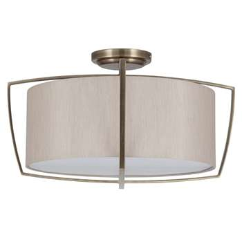 Moana 3 Light Ceiling Light Antique Brass (H32.2 x W50 x D50cm)