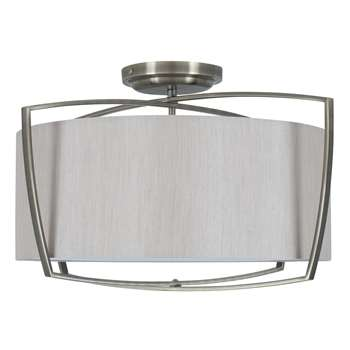 Moana 3 Light Ceiling Light Silver (H32.2 x W50 x D50cm)