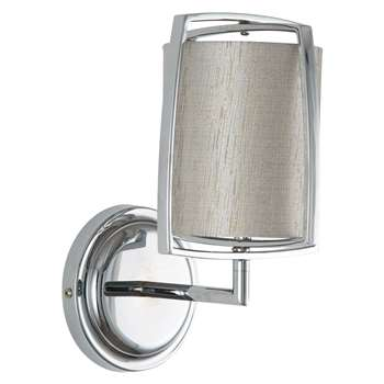 Moana Wall Light Polished Chrome (H28 x W19 x D14.5cm)