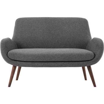 Moby 2 Seater Sofa, Marl Grey (86 x 124cm)