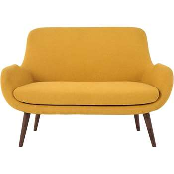 Moby 2 Seater Sofa, Yolk Yellow (86 x 124cm)