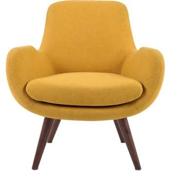 Moby Accent Chair, Yolk Yellow (64 x 75cm)