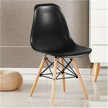 Moda Eiffel Chair, Black (82 x 47cm)
