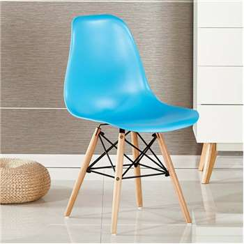 Moda Eiffel Chair, Blue (82 x 47cm)