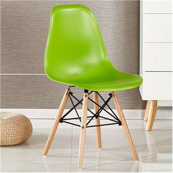 Moda Eiffel Chair, Green (82 x 47cm)