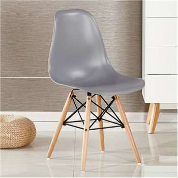 Moda Eiffel Chair, Grey (82 x 47cm)