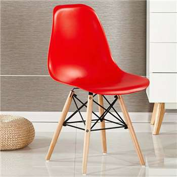 Moda Eiffel Chair, Red (82 x 47cm)