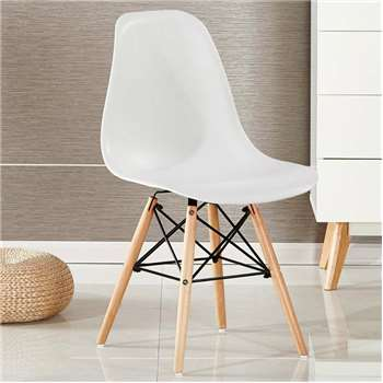 Moda Eiffel Chair, White (82 x 47cm)