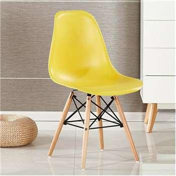 Moda Eiffel Chair, Yellow (H82 x W47 x D47cm)