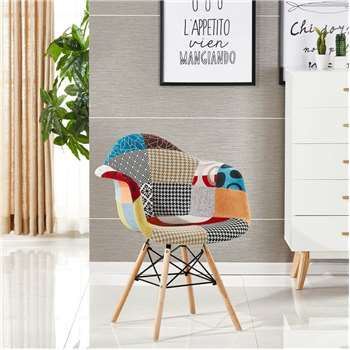 Moda Patchwork Tub Chair (83 x 63cm)
