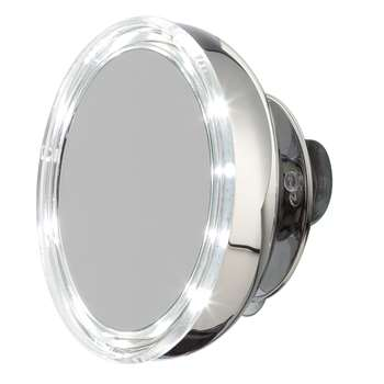 Moeve - Stainless Steel Magnified LED Mirror - Small (13 x 13cm)