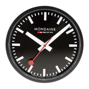Mondaine SBB - Classic Wall Clock - Black (Diameter 25cm)