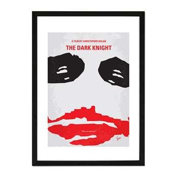 "Monde Mosaic - The Dark Knight Framed Print - 16x20"" (50 x 40cm)"