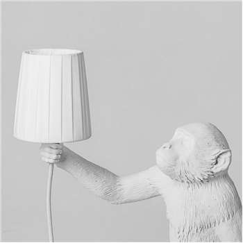White Monkey Light Lamp Shade (H12 x W11 x D11cm)