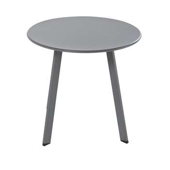 MONOPOLI Round Anthracite Grey Metal Garden Coffee Table (H45 x W50 x D50cm)