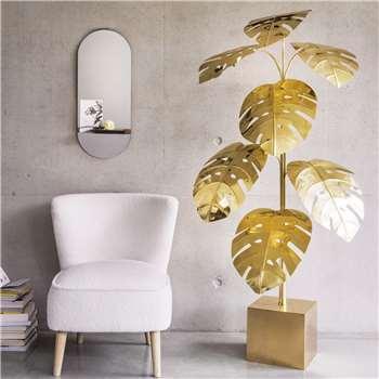 Monstera Brass Floor Lamp (H168 x W80 x D50cm)