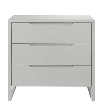 MONTMARTRE - Grey 3-drawer chest of drawers (H82 x W85 x D42cm)