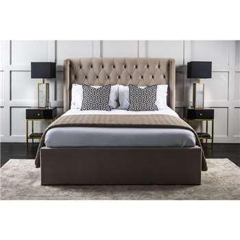 Montrose Storage Bed - Mink, King Size (H137 x W176 x D226cm)