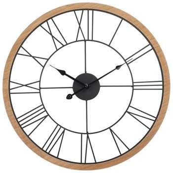 MONTROY Black Metal Clock (H52 x W52 x D5cm)