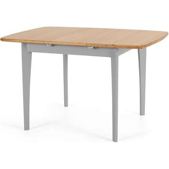 Monty 2-4 Seat Extending Dining Table, Oak & Grey (H76 x W90-130 x D90cm)